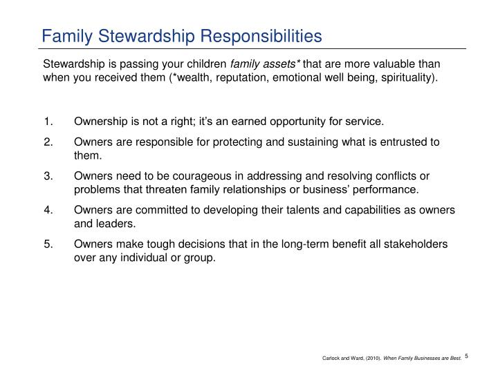 Family Stewardship Responsibilities