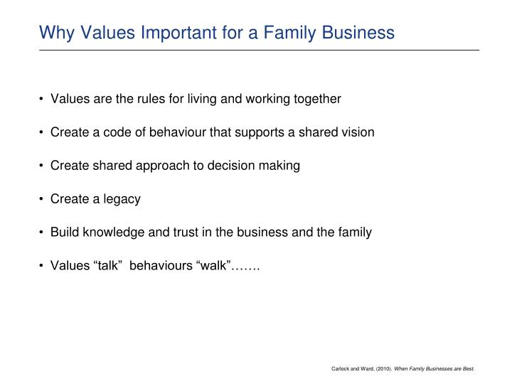 Why Values Important for a Family Business