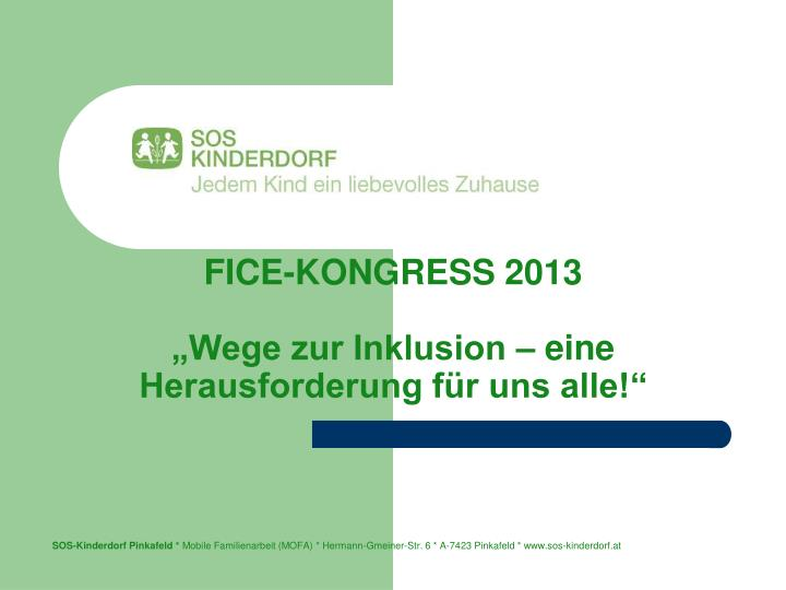 FICE-KONGRESS 2013