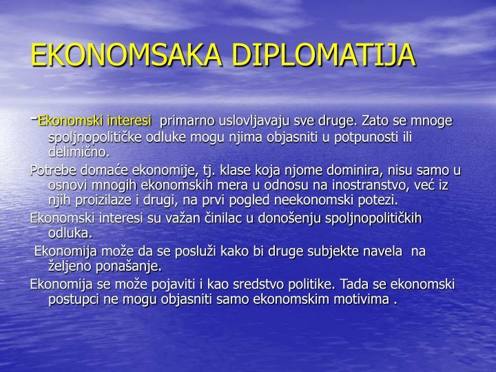 EKONOMSAKA DIPLOMATIJA
