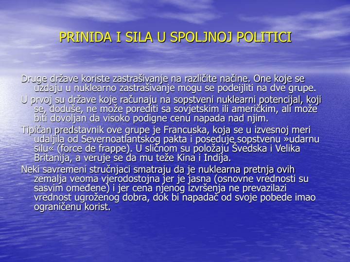 PRINIDA I SILA U SPOLJNOJ POLITICI