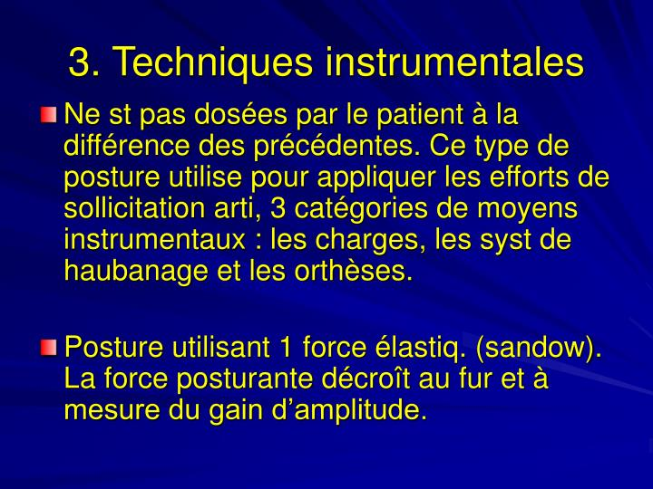 3. Techniques instrumentales