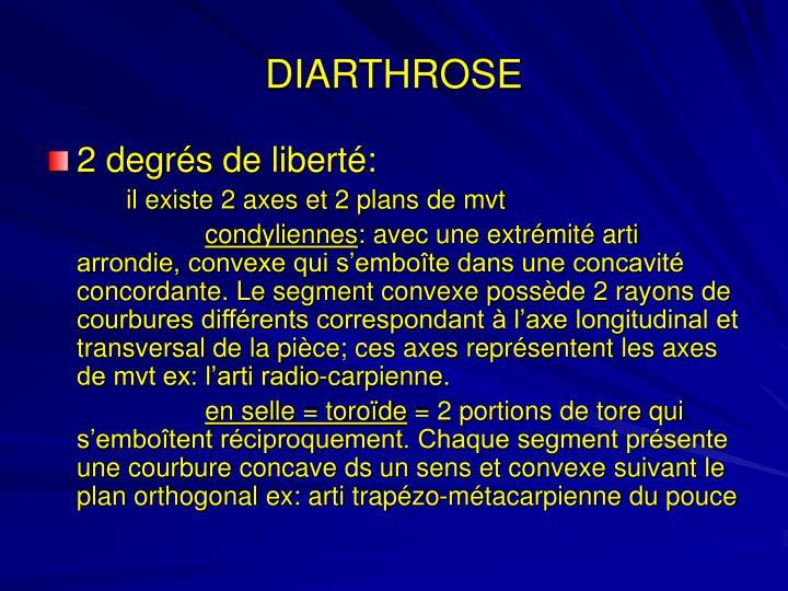 DIARTHROSE