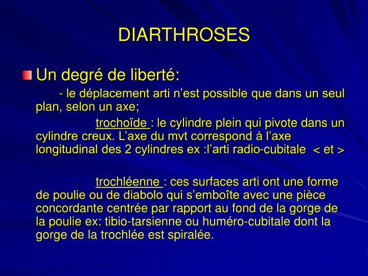DIARTHROSES