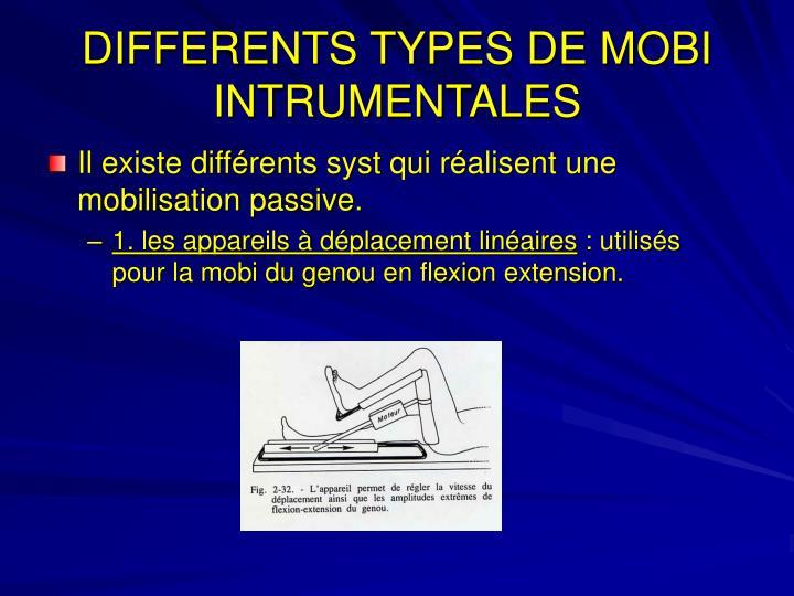DIFFERENTS TYPES DE MOBI INTRUMENTALES