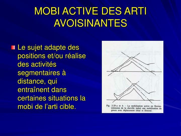 MOBI ACTIVE DES ARTI AVOISINANTES