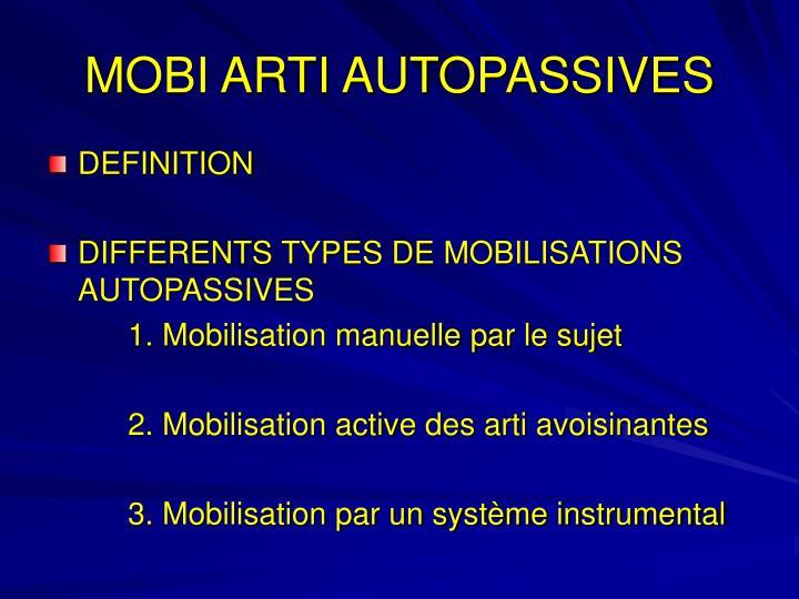 MOBI ARTI AUTOPASSIVES