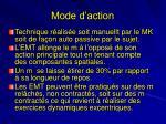 mode d action1