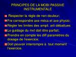 principes de la mobi passive instrumentale