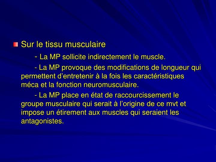 Sur le tissu musculaire