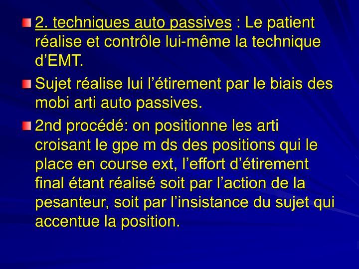 2. techniques auto passives