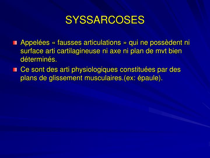 SYSSARCOSES
