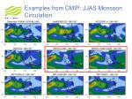 examples from cmip jjas monsoon circulation