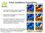 initial conditions ensembles