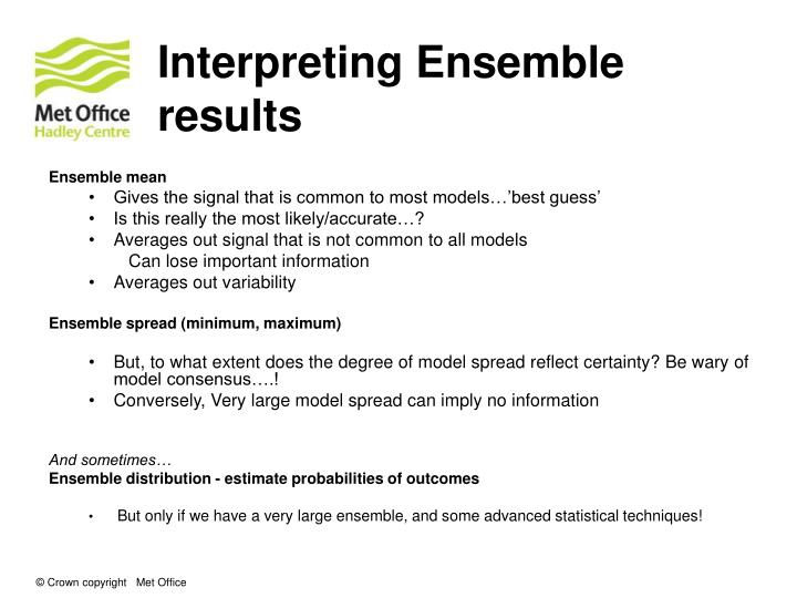 Interpreting Ensemble results