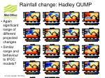 rainfall change hadley qump