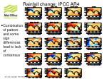 rainfall change ipcc ar4