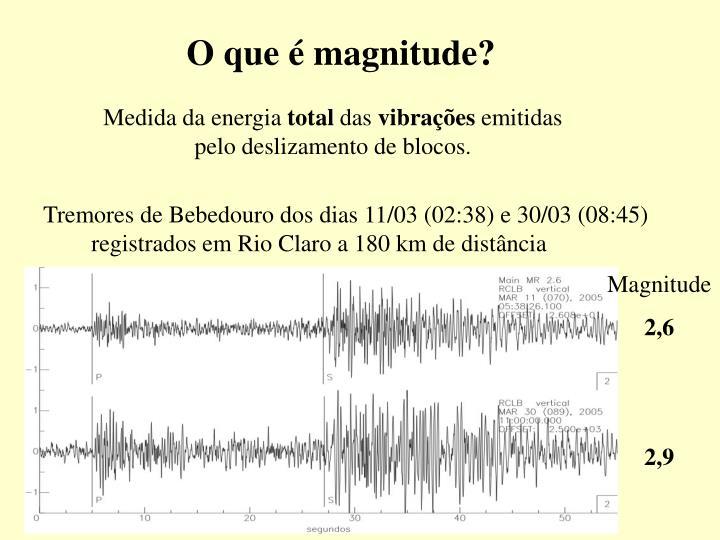 O que é magnitude?
