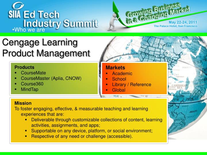 Cengage Learning Product Management