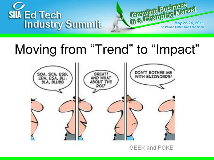 "Moving from ""Trend"" to ""Impact"""