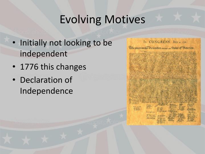 Evolving Motives