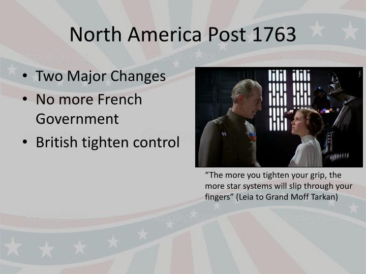 North America Post 1763