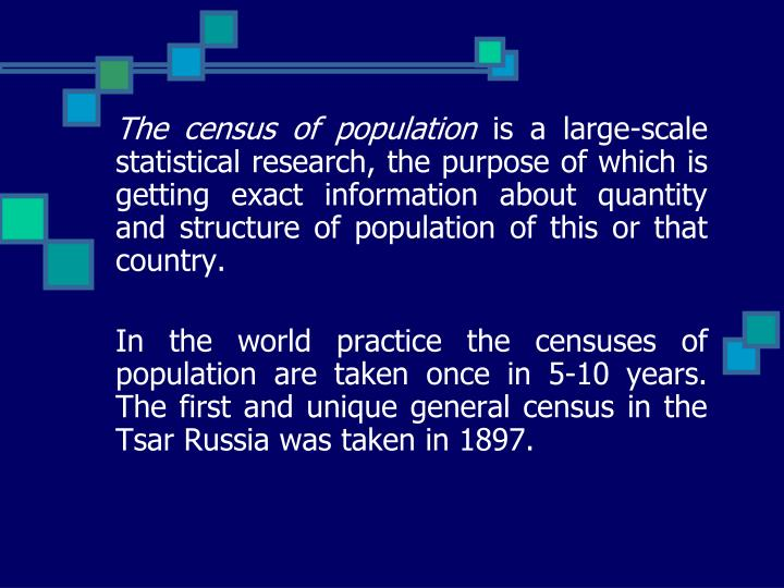 The census of population