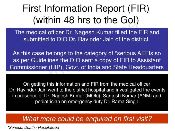 First Information Report (FIR)