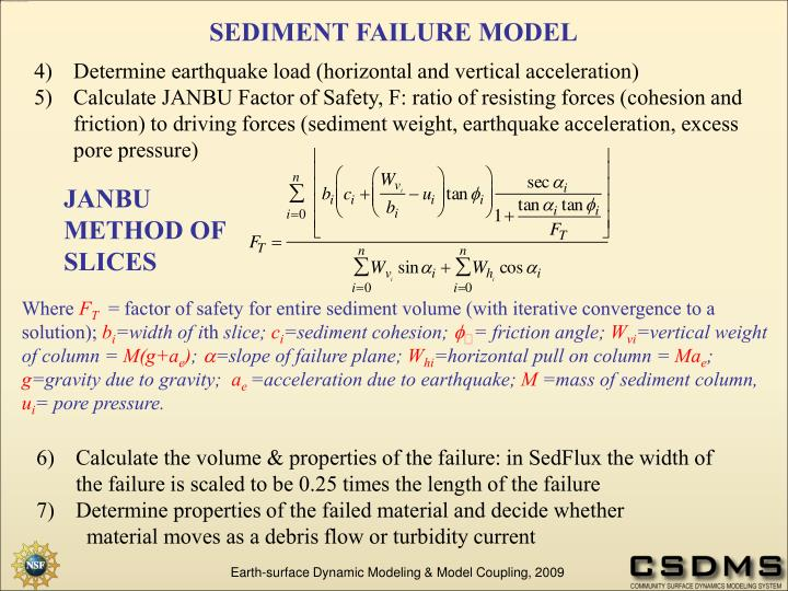 SEDIMENT FAILURE MODEL