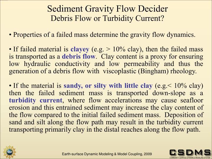 Sediment Gravity Flow Decider