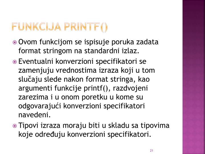 Funkcija printf()