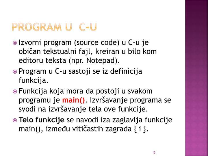 Program u  C-u
