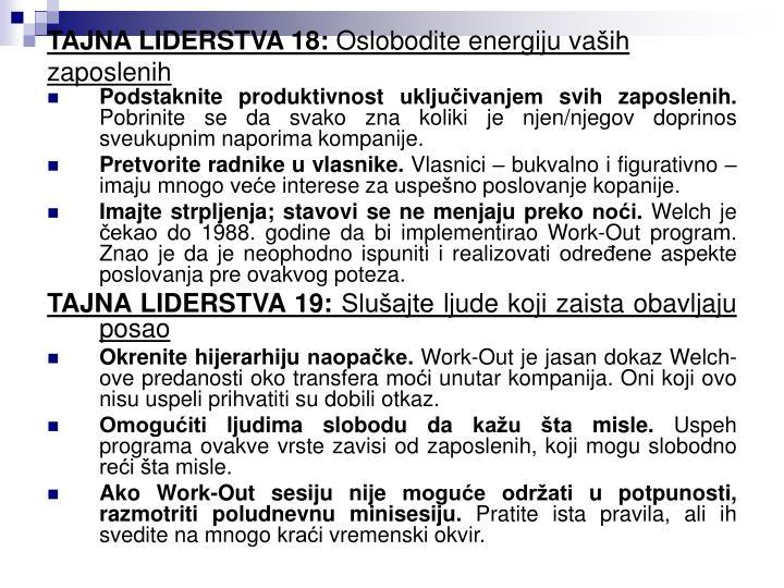 TAJNA LIDERSTVA 18: