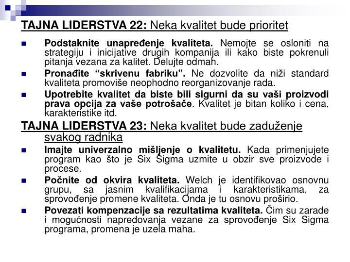 TAJNA LIDERSTVA 22: