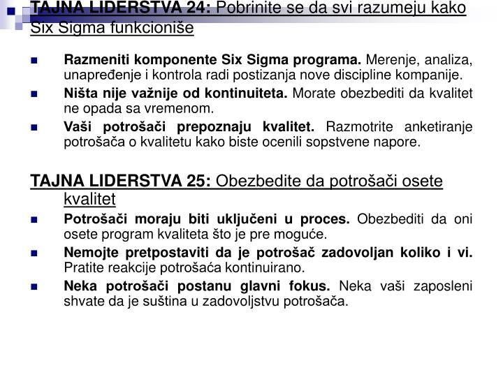 TAJNA LIDERSTVA 24: