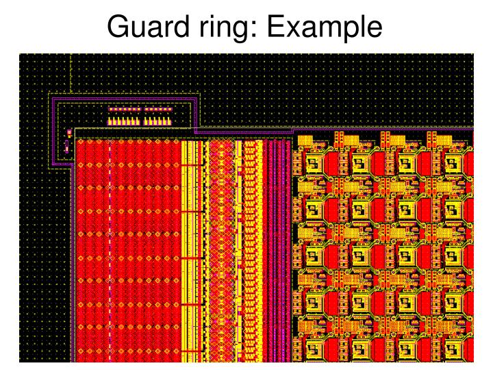 Guard ring: Example