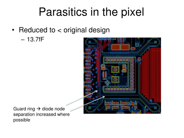 Parasitics in the pixel