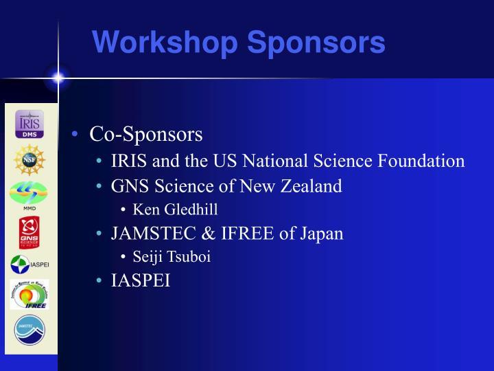 Workshop Sponsors