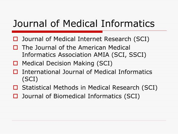 Journal of Medical Informatics