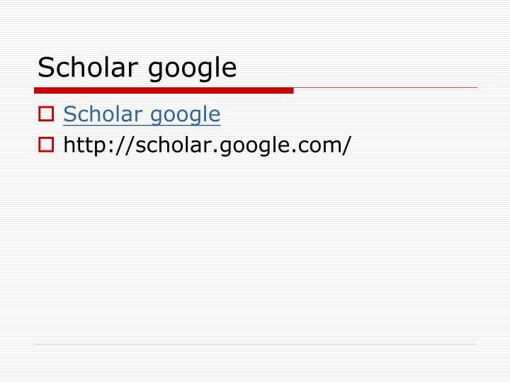 Scholar google