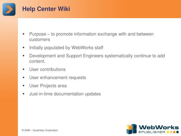 Help Center Wiki