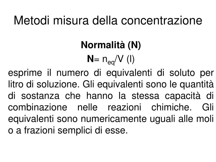 Metodi misura della concentrazione