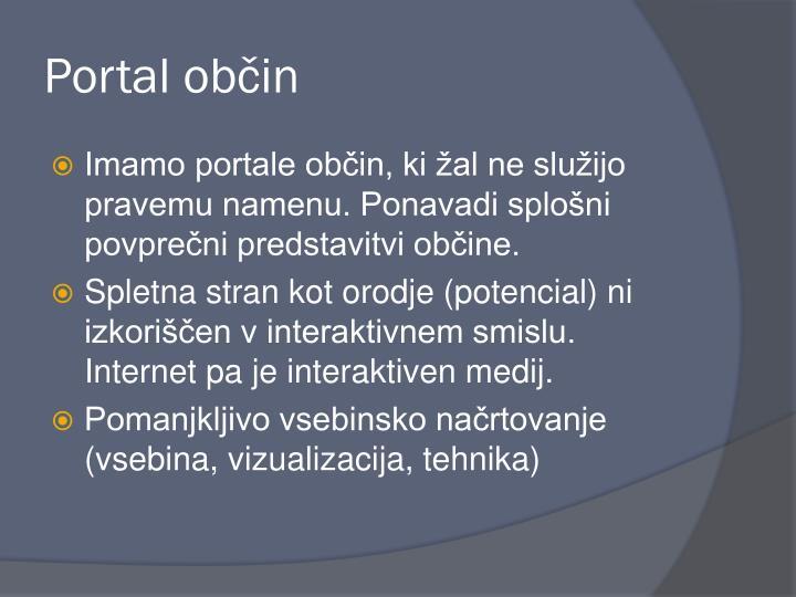 Portal občin