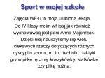 sport w mojej szkole