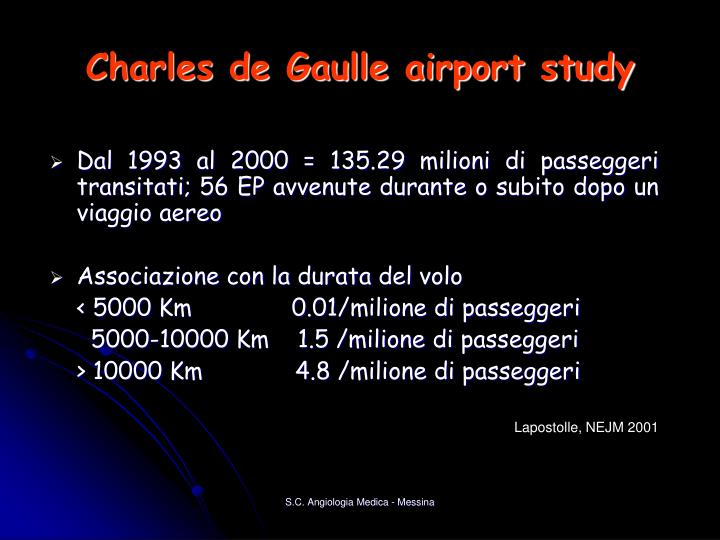 Charles de Gaulle airport study
