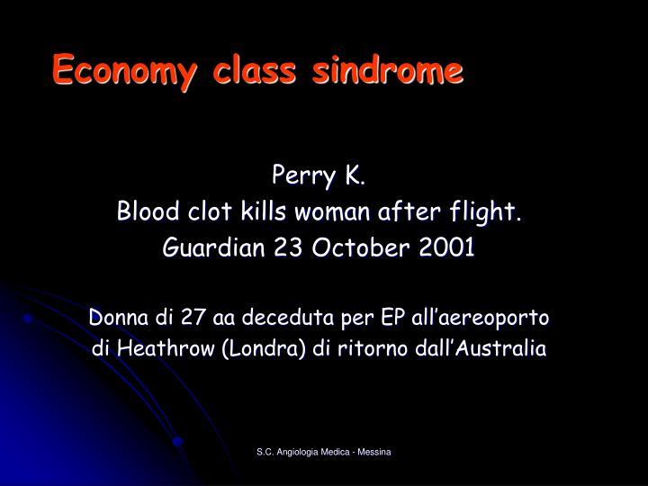 Economy class sindrome