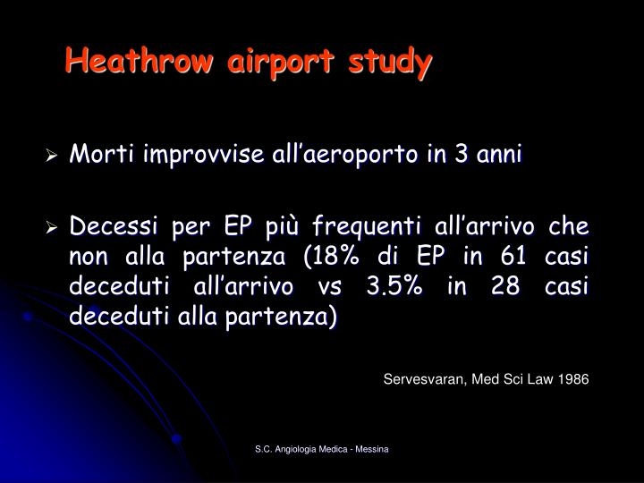 Heathrow airport study