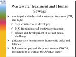 wastewater treatment and human sewage