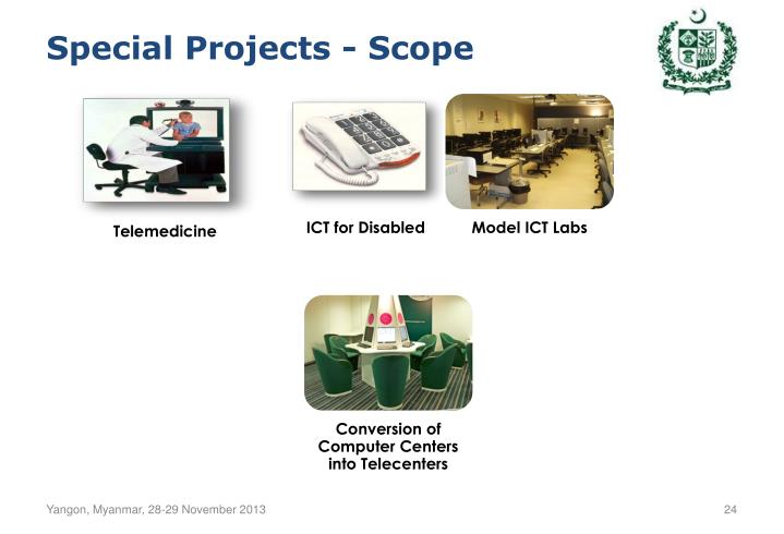 Special Projects - Scope