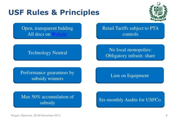 USF Rules & Principles